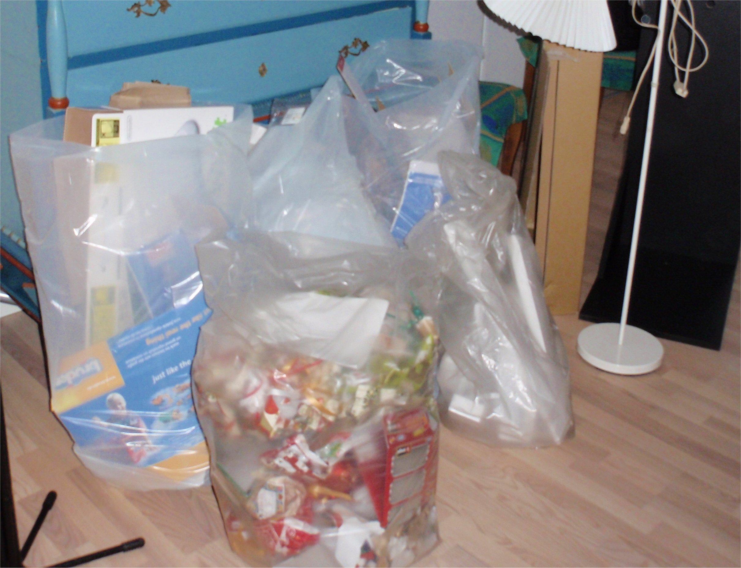 En stor del af affaldet